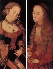 Nice Oil lucas cranach the elder - st catherine of alexandria and st barbara art