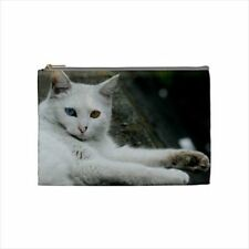 Turkish Angora Cosmetic Bag & Handbag Mirror - Cat Kitten