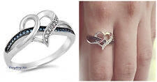 .925 Sterling Silver 12MM INFINITY HEART LOVE DESIGN CZ PROMISE RING SIZE 5-10