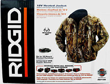 BRAND NEW RIDGID 18v 18 VOLT LITHIUM ION CAMOUFLAGE HEATED JACKET COAT