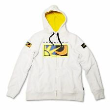OFFICIAL VALENTINO ROSSI LADIES ZIP FLEECE HOODIE 46 WHITE 2016 OFFER