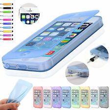 Shockproof Flip Silicone Cases Cover For iPhone 6 6s 5 5s 5c + Screen Protector