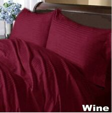 1000tc 100%Egyptian Cotton Wine Stripe Bedding Items Sheet Set/Duvet Set/Fitted