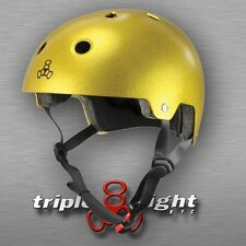 Triple Eight Certified Helmet, Gold Flake, X-Small/Small