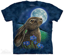 Moon Gazer Kids T-Shirt from The Mountain. Bunny Rabbit Child Sizes NEW