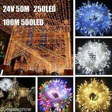 24V 50M 100M 250LED 500LED Mini Christmas Wedding Xmas Party Fairy String Lights