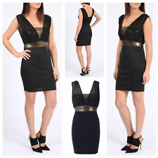 NEW WOMENS LADIES CELEBRITY LOOK SEQUIN BUST DETAIL TOP BODYCON PARTY MINI DRESS