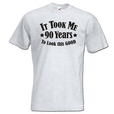 It took me 90 years to LOOK THIS GOOD mens women t-shirt 90th Birthday year 1927