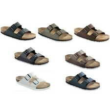 Birkenstock Arizona Sandals Birko Flor - narrow regular - blue brown black white