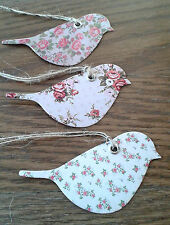 15 Vintage Rose Sass & Belle Bird Gift Tags ~ Craft, Wedding, Place Card Tag