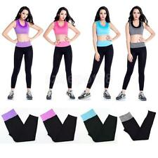Womens Ladies Strechy Jogging Leggings Bottoms Pants Gym Running Yoga Trousers