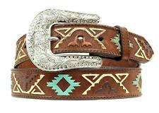Nocona Western Womens Belt Leather Thunderbird Embossed Brown N3412402 -Size L