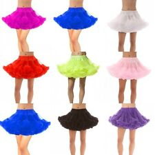 New Short Mini Bridal Petticoat Crinoline Underskirt Tutu Dance Skirt Swing Slip