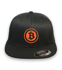 BITCOIN  Flex Fit HAT CURVED or FLAT BILL ***FREE SHIPPING*** #21(A)C