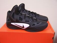 New! Men's Nike Zoom Hyperfuse 454146-001 Black white basketball  NIB pb  W15