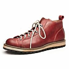 Leather Lace up Round Toe Work Boots Men Ankle Boots Shoes fashion sneakers