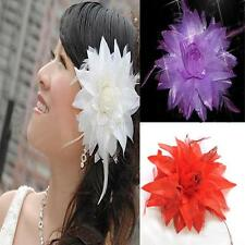 Eye-catching Flower Brooch Headpiece Bridal Party Prom Hair Holder Headdress D97