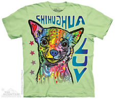 Chihuahua Luv T-Shirt by The Mountain. Big Face Pet Animal Sizes S-5XL NEW