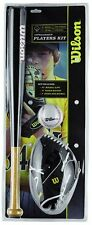 New Wilson Little League Kids Junior Baseball Kit Set Bat,Ball,Glove