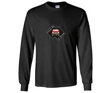 "Early Ford Bronco ""Follow Me If You Can"" Design Long Sleeve Black T Shirt"