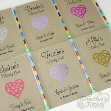 Personalised A6 Childrens Wedding Activity Favour Book Gift Pack Bag Party Heart