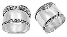 Sterling Silver 925 LADIES MEN'S BALI BRAIDED WITH ROPE DESIGN RINGS SIZE 5-12