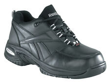 Reebok Work Mens Black Leather Wide Composite Toe Work Oxford RB4177