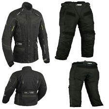 NEW BIKER OUTFIT jacket and pants - TEXTILE - BREATHABLE WIND+WATERPROOF