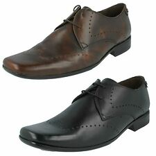 Mens Base London Black Brown Leather Formal Lace Up Shoes Relate