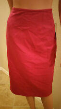 Evan Picone Park Avenue Deep Rose  Suit Skirt  sz 8 Great Find New Tags $100