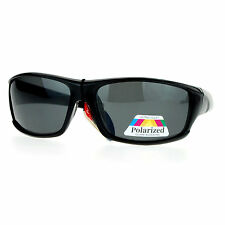 Mens Polarized Lens Sunglasses Oval Rectangular Wrap Sports Fashion