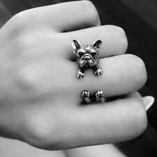 Retro Dog Ring Pet Antique Vintage Animal Ring Gift Puppy Wrap Ring Adjustable