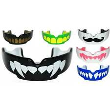 Safejawz Gum Shield Mouth Guard Muay Thai Boxing Fangz MO Ogre Shark Black White