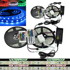 5M 10M RGB 5050 SMD Waterproof 300 LED Light Strip Flexible +IR Remote 12V Power