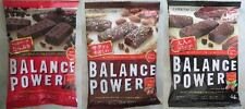 BALANCE POWER 3 pack set Supplement Bar COCOA, ALMOND CACAO, BLACK CACAO, JAPAN