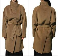 NEW Arrival Women Fashion Cashmere Blend Large Lapel Collar Outwear Trench Coat