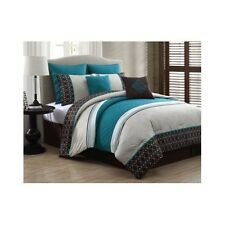 Bedroom Comforter Set 8Pc Bed In A Bag Bed Skirt Sham Pillow King Queen All Ages