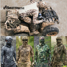 Tactical Long Sleeve Camouflage T-Shirt Airsoft Combat Fast Quick Dry Shirt M-2X
