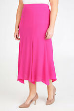 SGTL- Plus Pink Crinkle Viscose Panelled Maxi Skirt With Flare To Hem 14-36