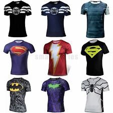 Hot Marvel Superhero Men Cycling Costume T-Shirt Short Sleeve Gym Bicycle Jersey
