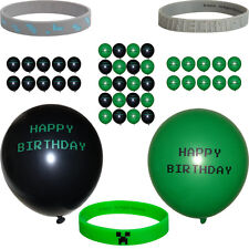 Bracelets and Happy Birthday Balloons~ Gamer Themed Party Decorations/Favors