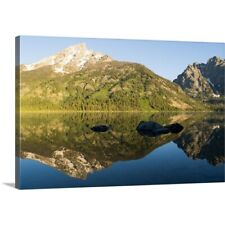 Premium Thick-Wrap Canvas Wall Art entitled Jenny Lake in the morning, Wyoming