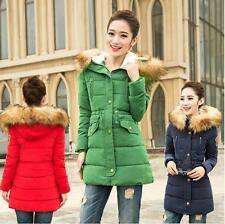 2016 Winter cotton coat Women's hooded furry collar jacket long thicken Parka