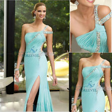 2016 One-Shoulder Sexy Evening Dress Party Bridesmaid Dress Cocktail Prom Gowns