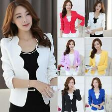 New Women's Lady Elegant Long Sleeve Slim Blazer Suit Casual Career Coat Jacket