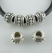 8/40/300pcs Tibetan Silver Hole 3mm Spacer Beads fit Charm Europe Bracelet