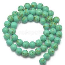 Natural Round Gemstone Turquoise Stone Bead Strand For Jewelry Making DY Finding
