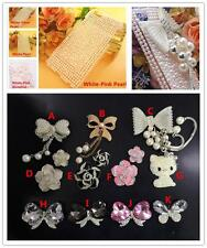 E075 DIY Bow/Flower/Cat Decor Pearl Case Sweet Protection Phone Cover For iPhone