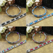 Bracelet Amaizng Beautiful Hot Sale Tibet Silver Multicolor Jade Turquoise Bead