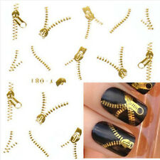 Gold Silver Nail Art Tips Stickers Decal Wraps Acrylic Manicure Decorations